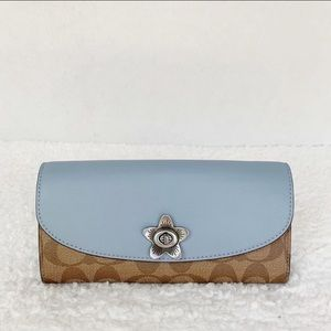 NWT Coach Signature Slim Envelope Wallet